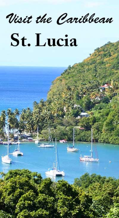 Marigot Bay on St. Lucia. Photo from Pixabay.