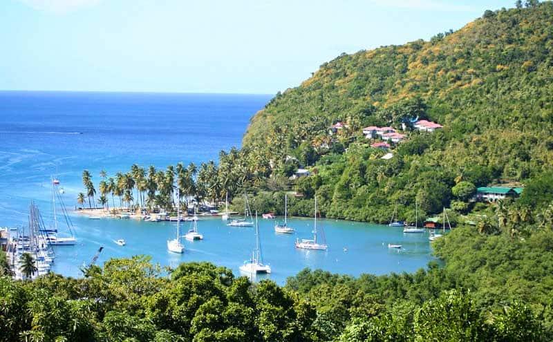 Marigot Bay on Saint Lucia. Photo from Pixabay.