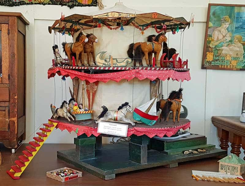 Handmade carousel in the Historic Hermann Museum in Hermann, Missouri.