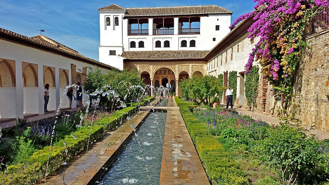 Alhambra, Spain. Open source image from Pixabay.