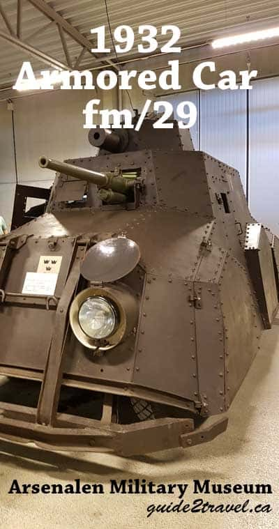 1932 Armoured car at the Arsenalen Military Museum in Sweden.