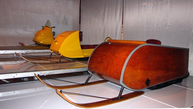 Wooden prototype for Bombardier's first assembly line Ski-Doo snowmobile.