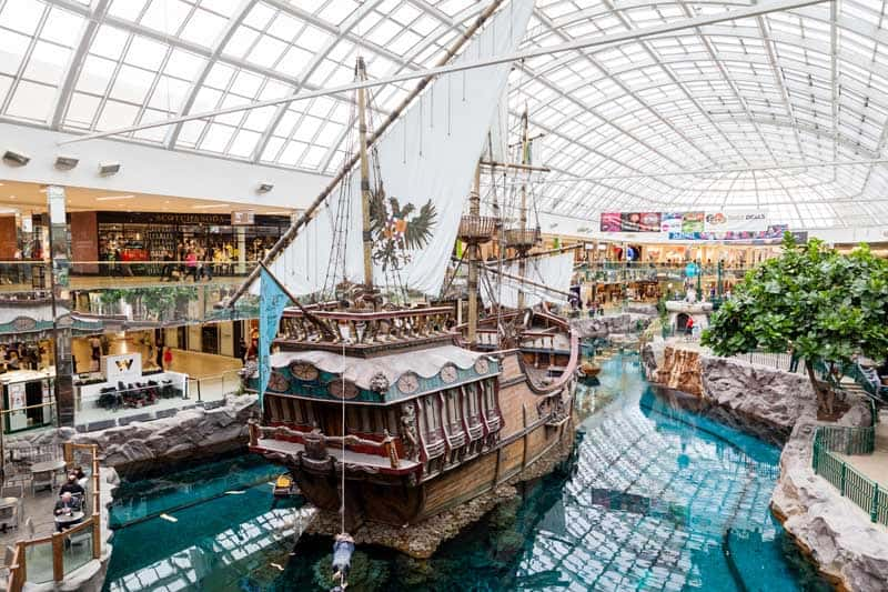 West Edmonton Mall. Stock Photo.
