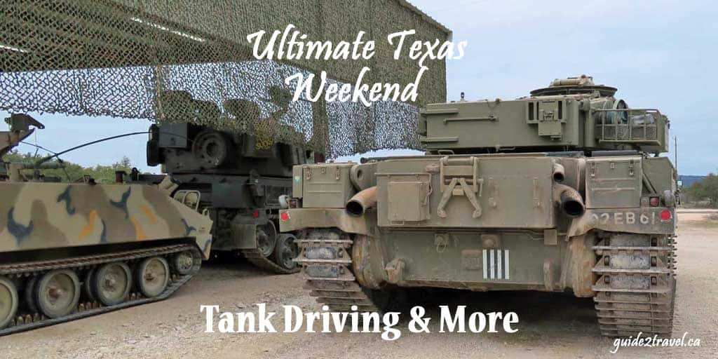 The history of WWII comes vividly to life driving tank military vehicles at DriveTanks.com on the Ox Ranch in Uvalde, then heading to Fredericksburg to spend the night at the WWII themed Hangar Hotel and spending a day exploring the amazing National Museum of the Pacific War. Check out their Living History weekends!