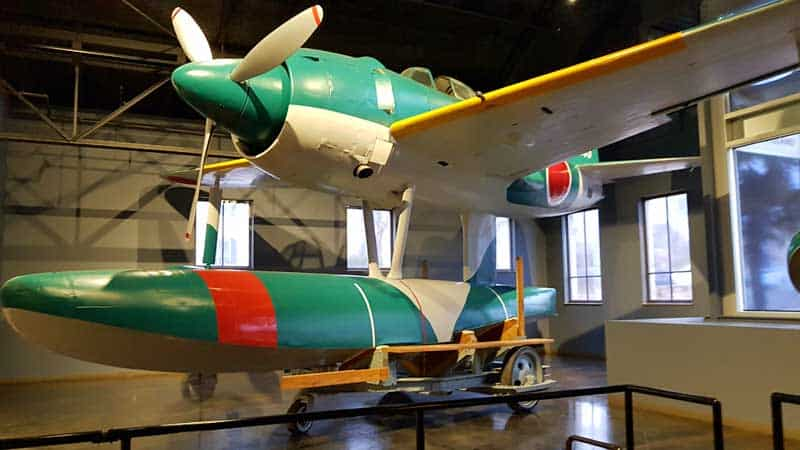 Kawaniski N1K Japanese float plane fighter designed to support defensive operations in advance of available airstrips.