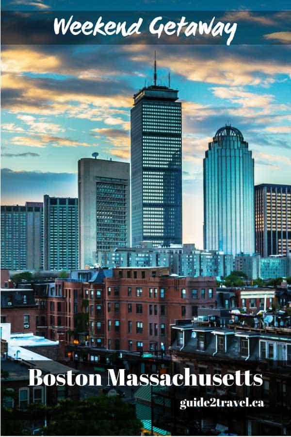 Weekend getaway in Boston, Massachusetts.