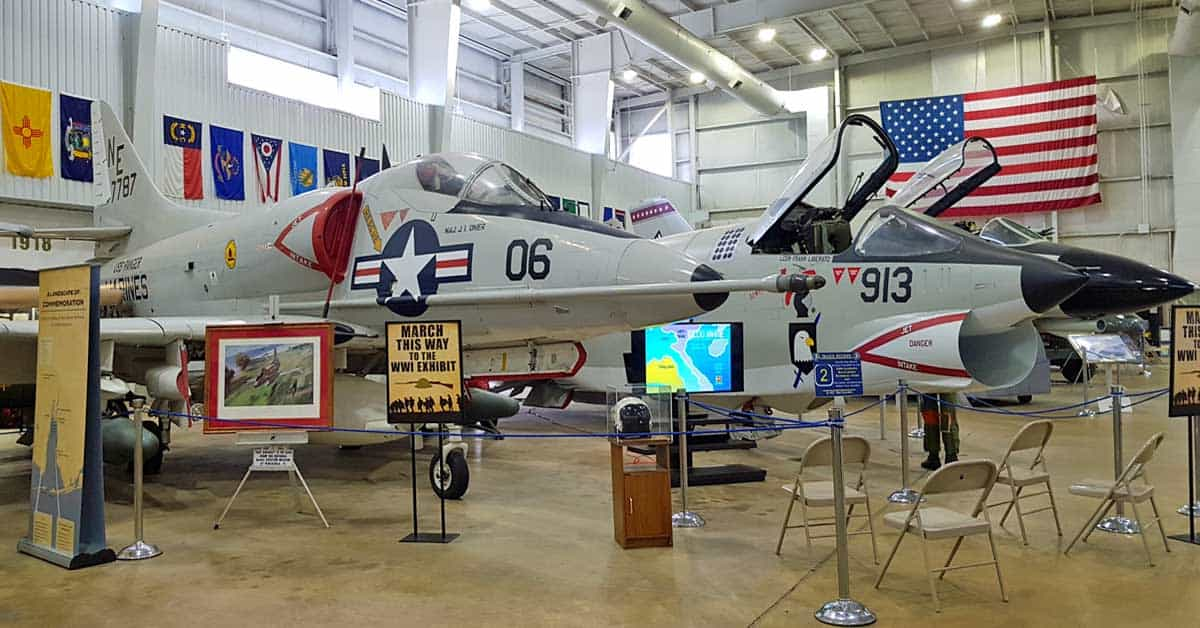 WWII jet plane on display at Battleship Memorial Park in Mobile, Alabama.