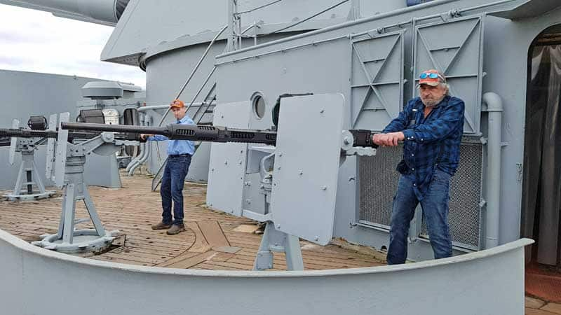 Things to do in Mobile, Alabama - check out the guns on the deck of the USS Alabama battleship in Battleship Park.
