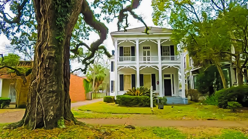 Home in an historic district of #Mobile #Alabama - the city has 8, 7 of them forming the downtown.