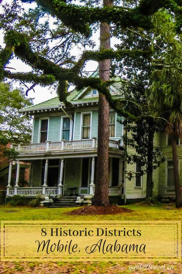 Historic home in one of Mobile, Alabama's 8 historic districts