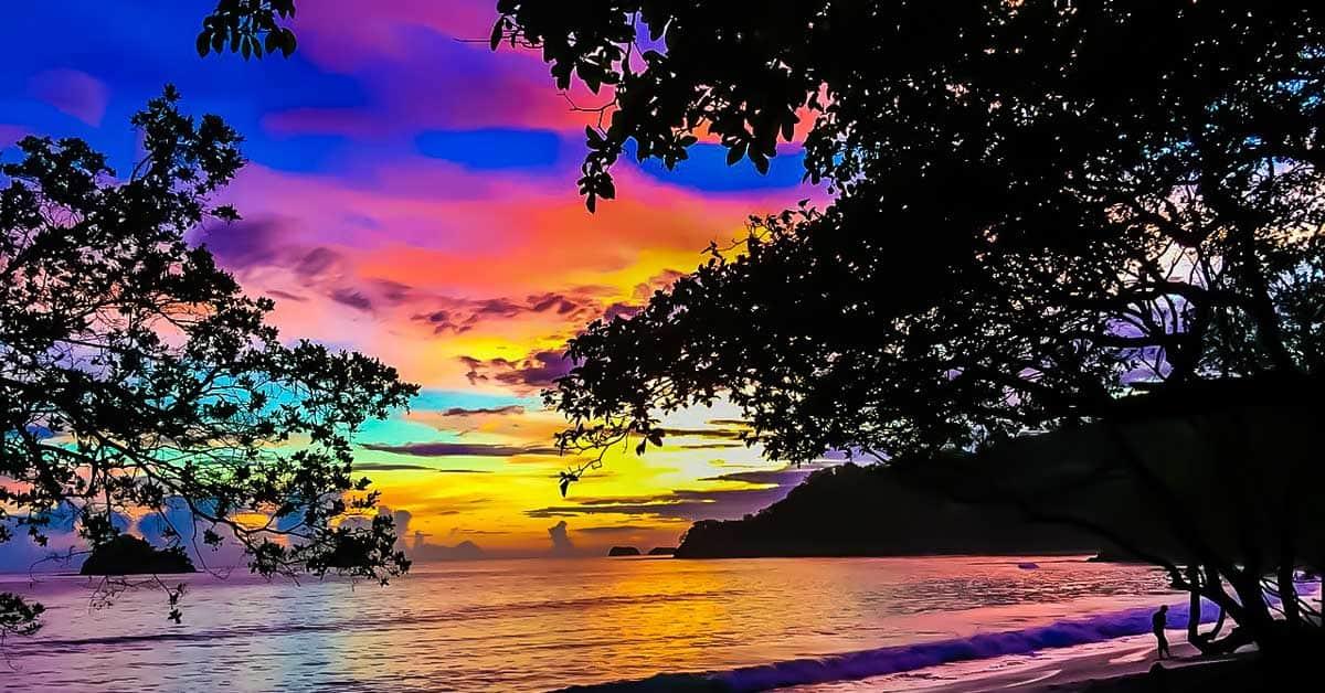 Costa Rica beach at sunset!