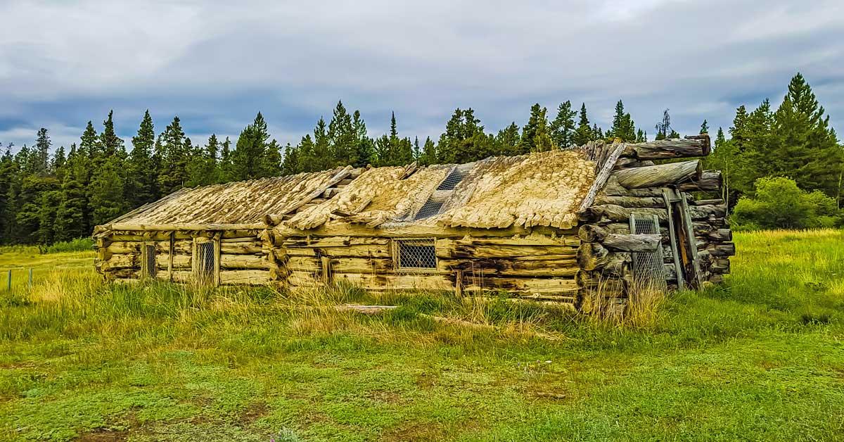 Yukon ghost town on the Klondike Highway