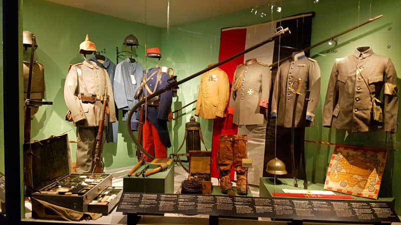 Uniforms in the Army Museum in Stockholm.