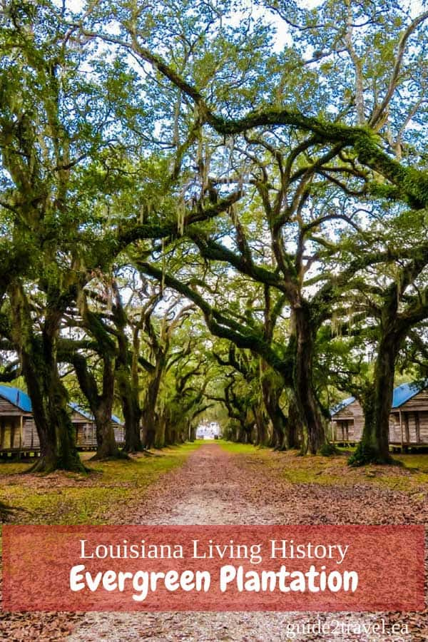 Evergreen Plantation near New Orleans, Louisiana