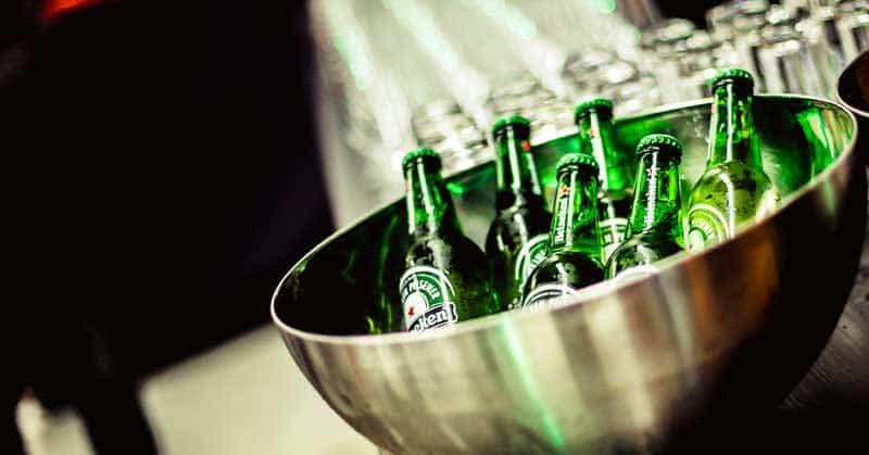 Heineken Beer is popular in Cape Town, South Africa.