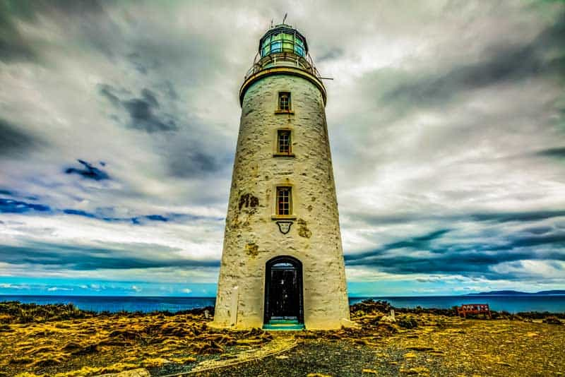 Cape Bruny Lighthouse in Tasmania, Australia.