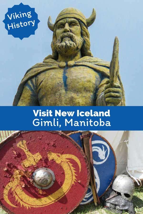 Viking statue at Gimli, Manitoba.