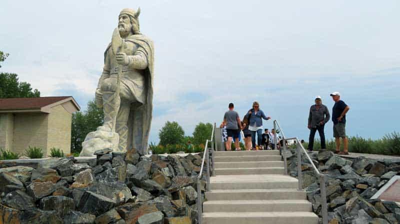 Viking statue in Viking Park in Gimli, Manitoba.