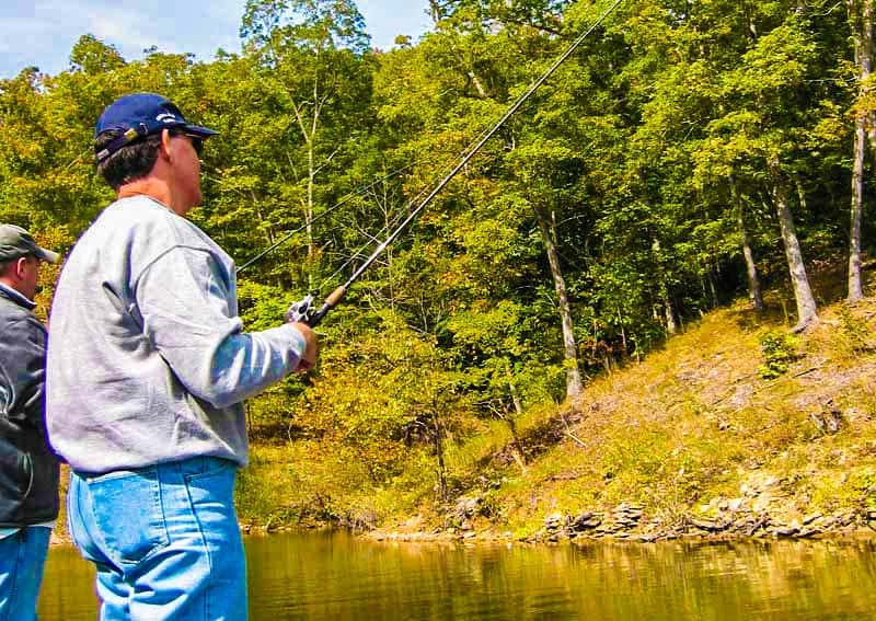 Fishing on Lake Cumberland
