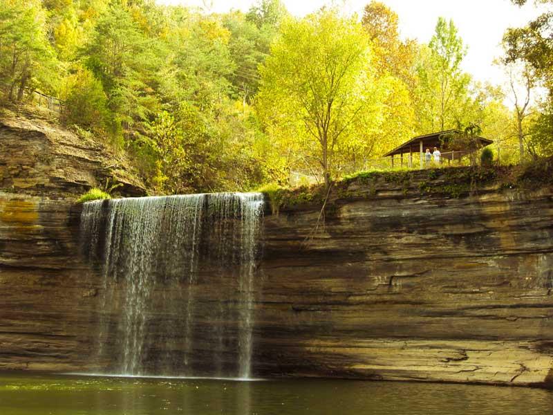 Cumberland Falls in autumn.