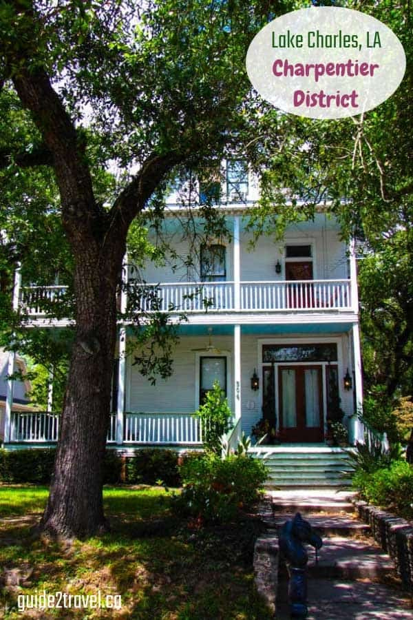 Historic home in the Lake Charpentier District in Lake Charles, Louisiana