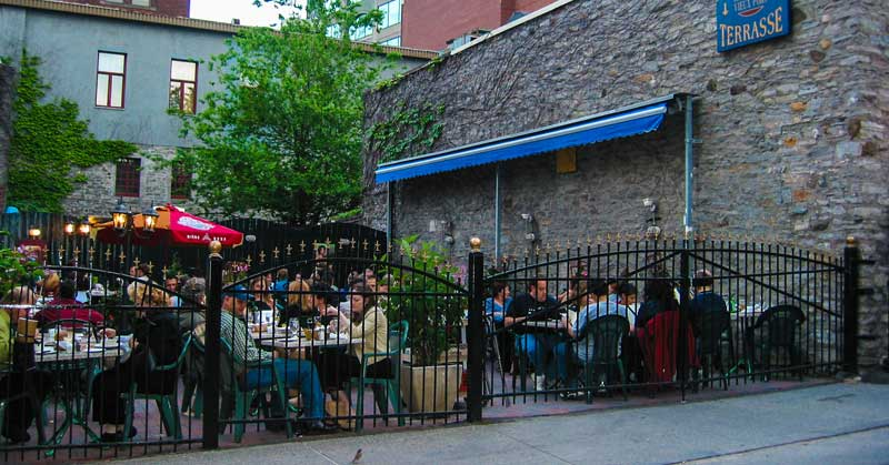 Check out the patio and terrace season for local restaurants and bars -- you can choose street or rooftop level.