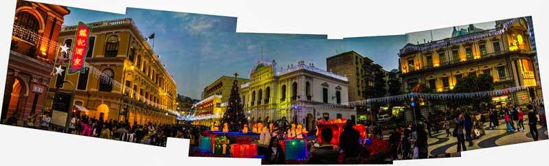 Macau Senado Square which is part of the UNESCO Historic Centre of Macau World Heritage Site