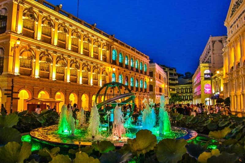 Historical Senado Square in Macau.