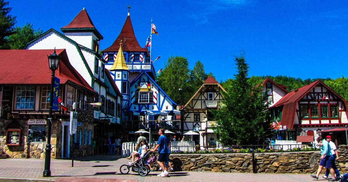 Helen, Georgia - Bavarian style town in the Blue Ridge Mountains