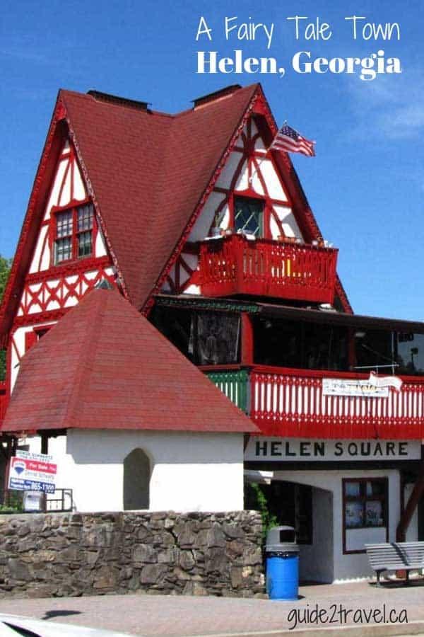 Visit the beautiful Bavarian alpine style village - Helen, Georgia, in the Blue Ridge Mountains