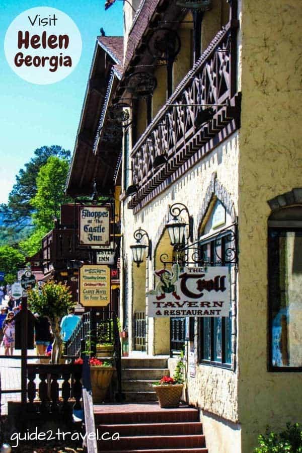 Visit the many shops in Alpine Helen, Georgia
