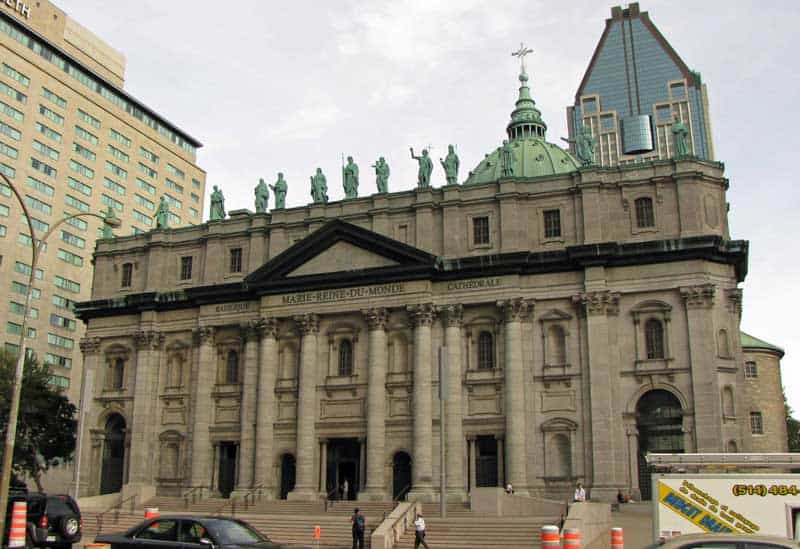 Cathedrale Marie-Reine-du-Monde (Mary, Queen of the World Cathedral) is Montreal's first catholic cathedral.