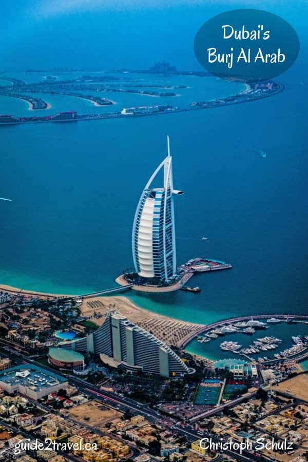 The Burj Al Arab is a luxury hotel located in Dubai, United Arab Emirates.