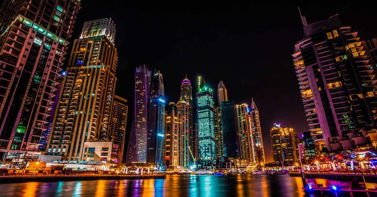 Dubai Marina, Dubai, United Arab Emirates by photographer, Adam Le Sommer.