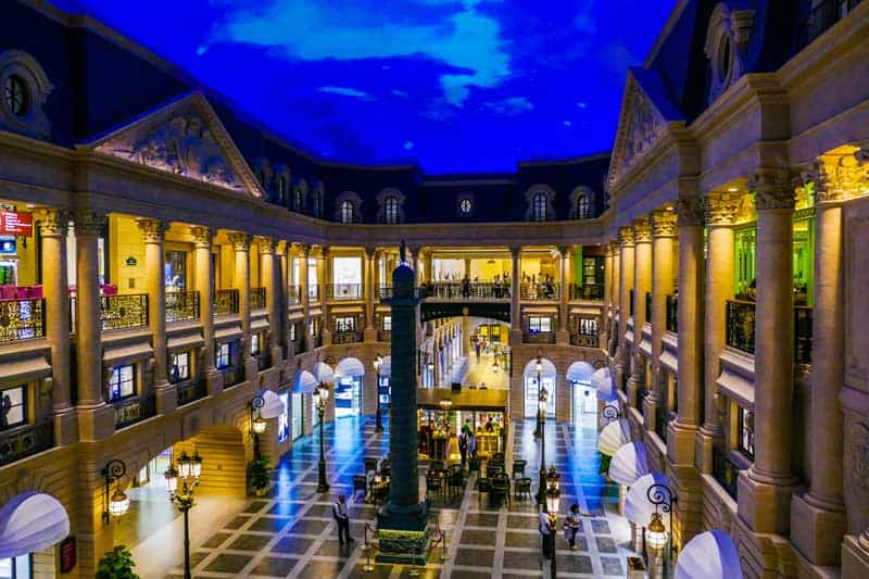 Macau casino interior.