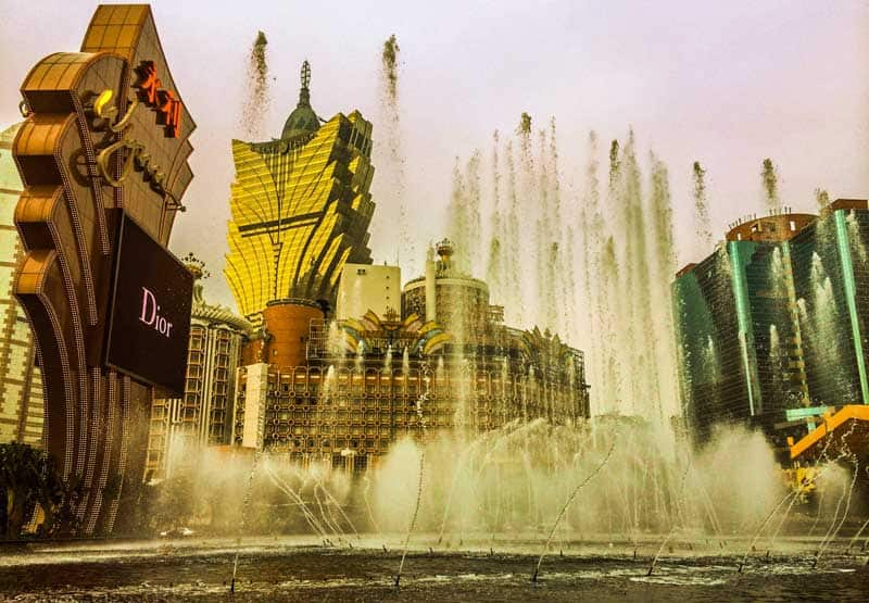 Casinos in Macau, Asia.