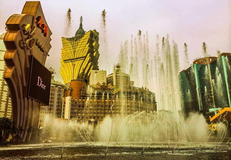 Casinos in Macau, Asia.