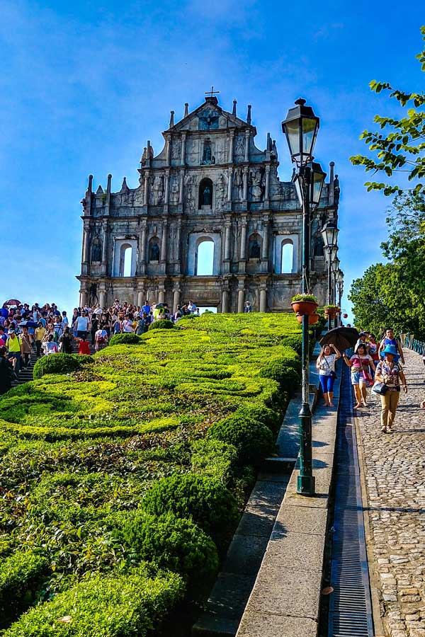 Macau, known as the Las Vegas of Asia, also has attractions from historical ruins like St. Paul's to UNESCO sites.