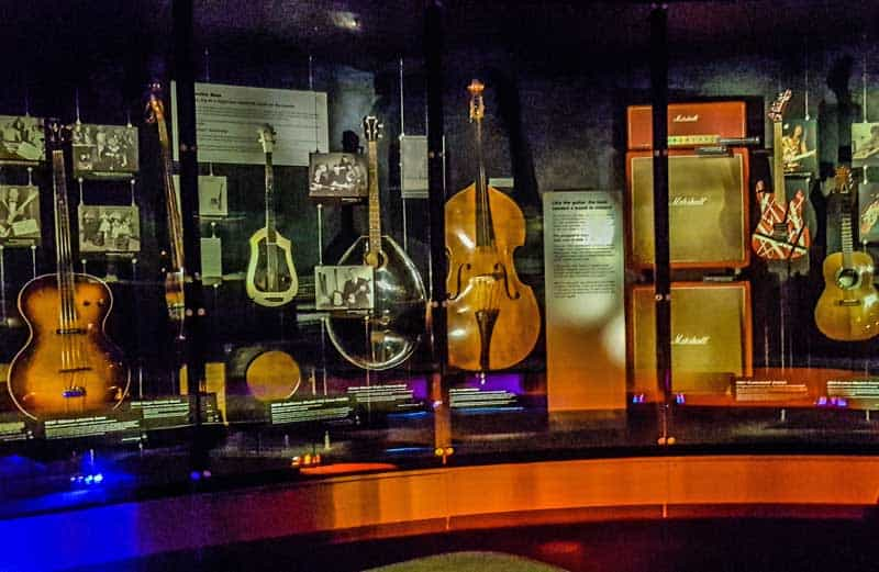Display in the Experience Music Project in the Museum of Pop Culture in Seattle.