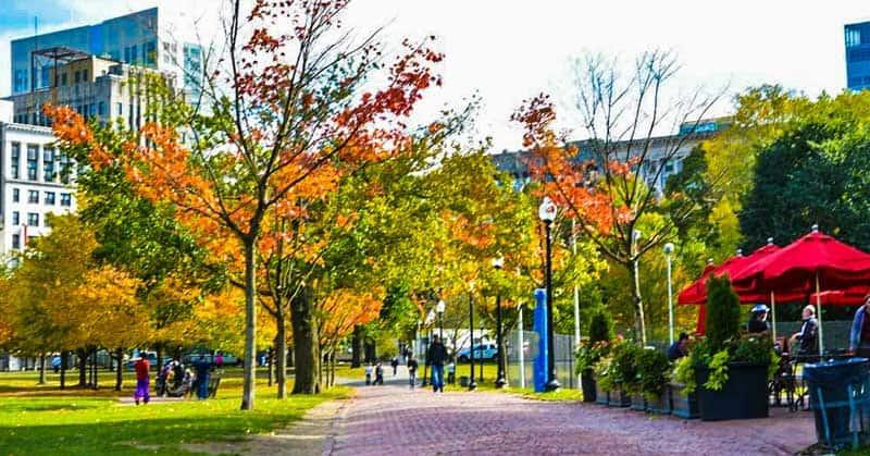 Boston Common in the fall.