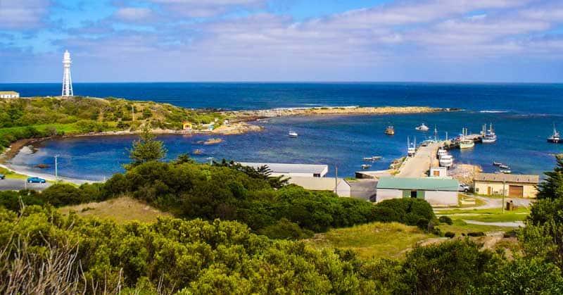 Currie Harbour, King Island, Australia.