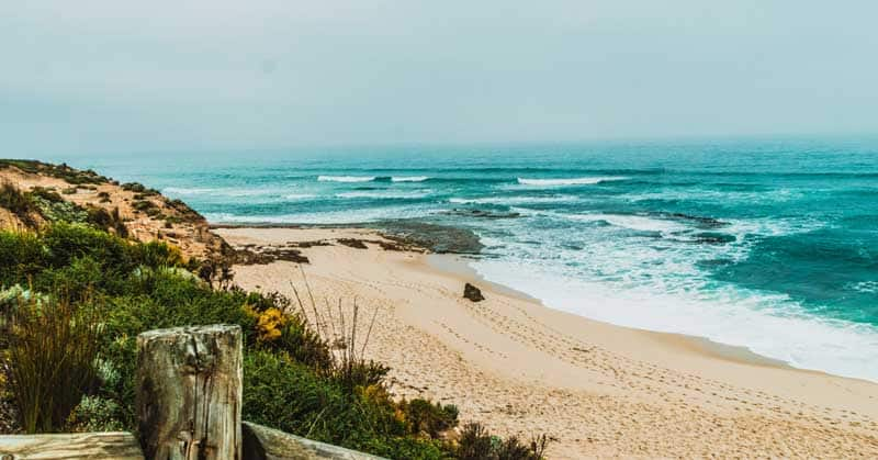 Sorrento Ocean Beach on Mornington Peninsula in Australia.