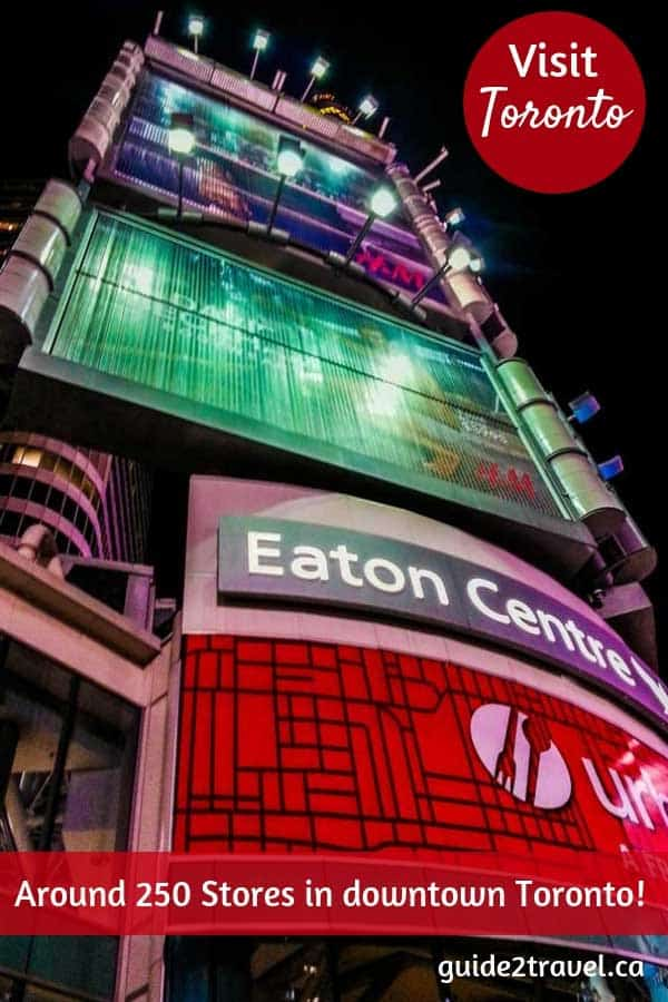 Shop in around 250 stores in Toronto at the Eaton Centre! #Toronto #travel #shopping #EatonCentre #Ontario #Canada