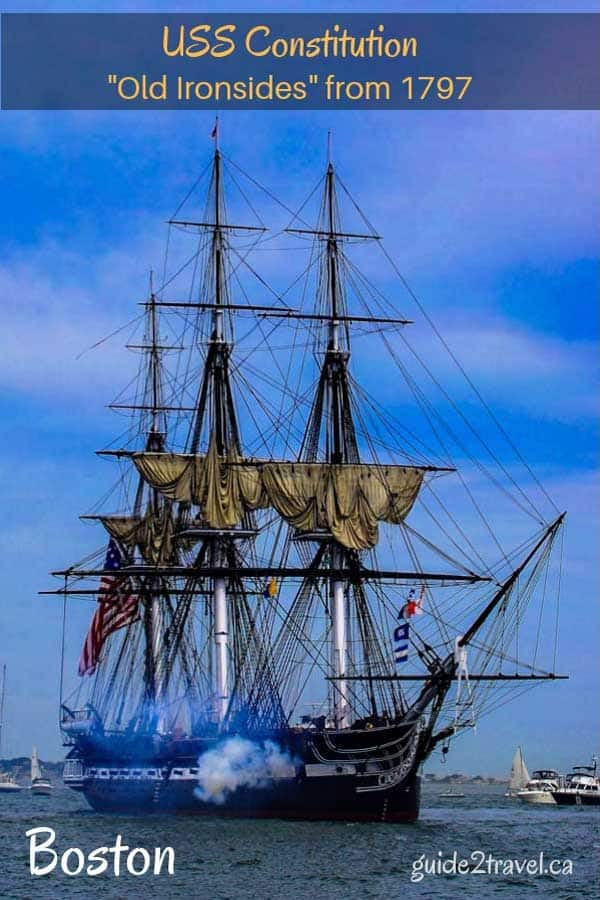 USS Constitution or Old Ironsides in Boston - photo reprinted with a CC0 license from Pixabay