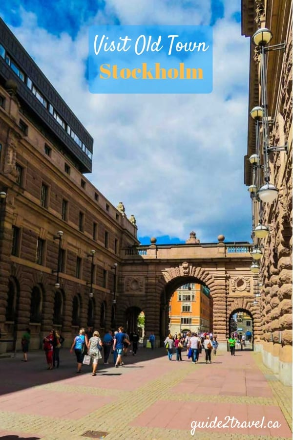 Gate into Stockholm Old Town - Gamla stan