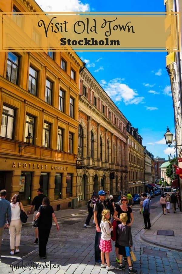 Narrow cobblestone street in Stockholm Old Town - Gamla stan