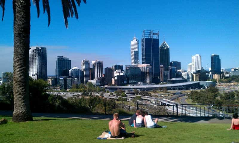 City park in Perth, Australia.