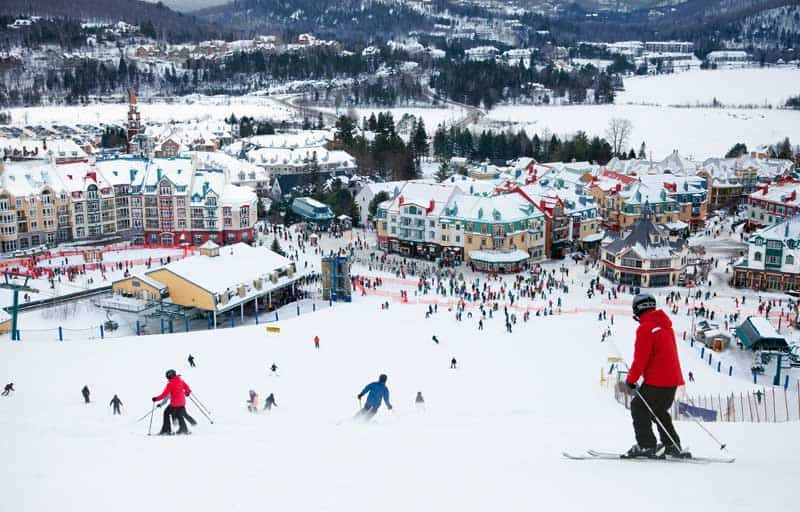 Mt. Tremblant skiing outside Montreal, Canada.