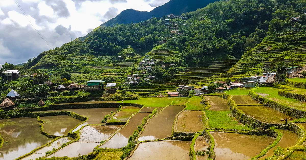 Banaue Rice Terraces in the Philippines.