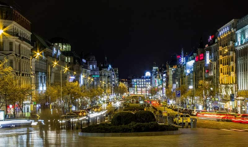 Wenceslas Square is the centre for business and culture in the New Town part of Prague.